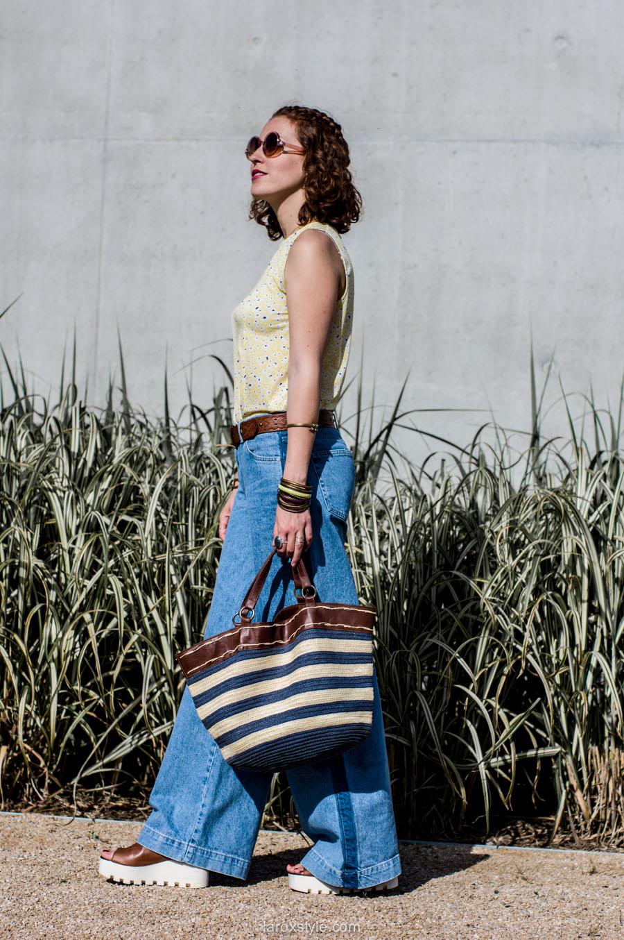 laroxstyle - blog mode lyon - look 70s - pantalon patte d elephant (12 sur 44)