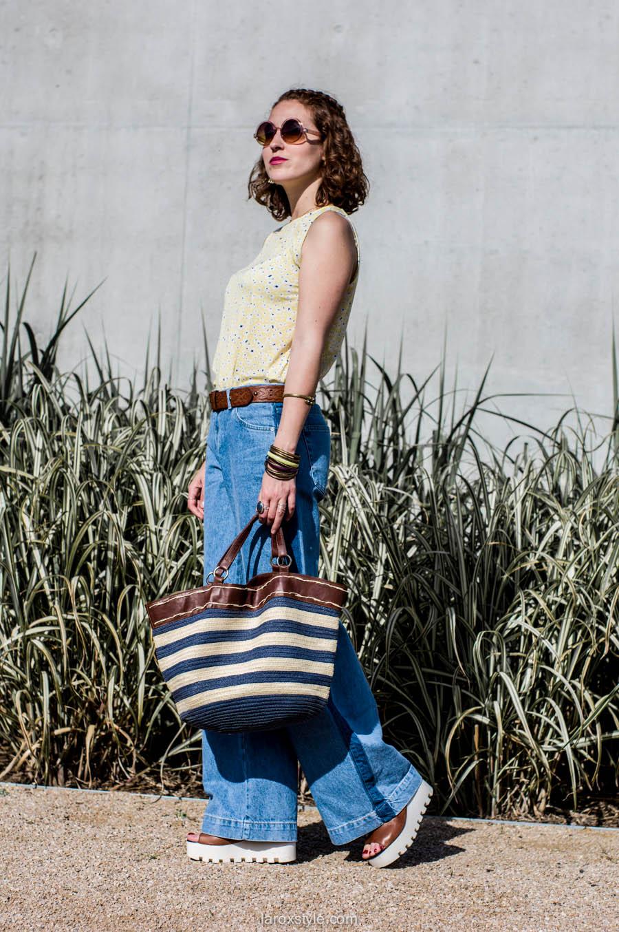 laroxstyle - blog mode lyon - look 70s - pantalon patte d elephant (13 sur 44)