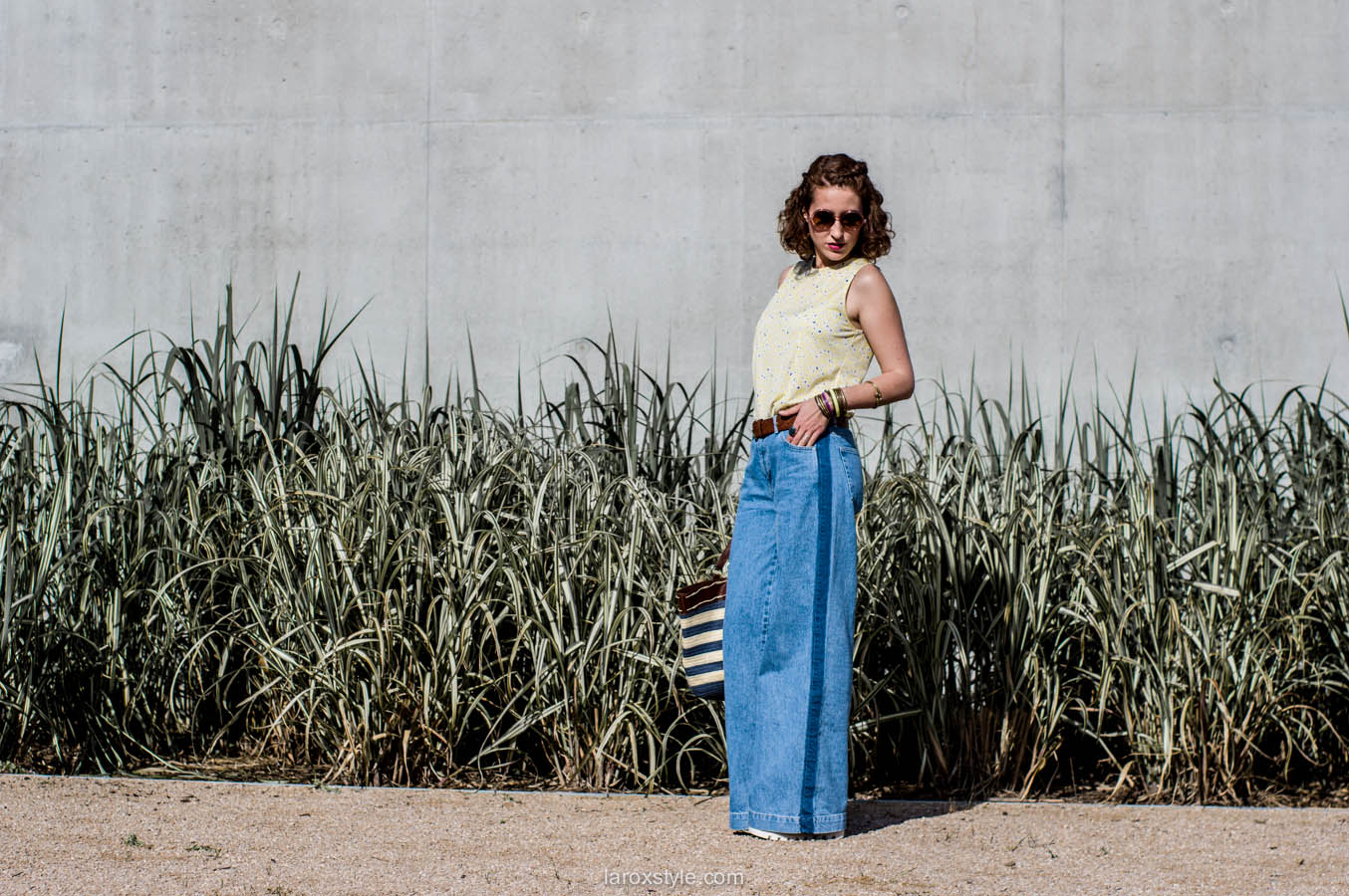 laroxstyle - blog mode lyon - look 70s - pantalon patte d elephant (15 sur 44)