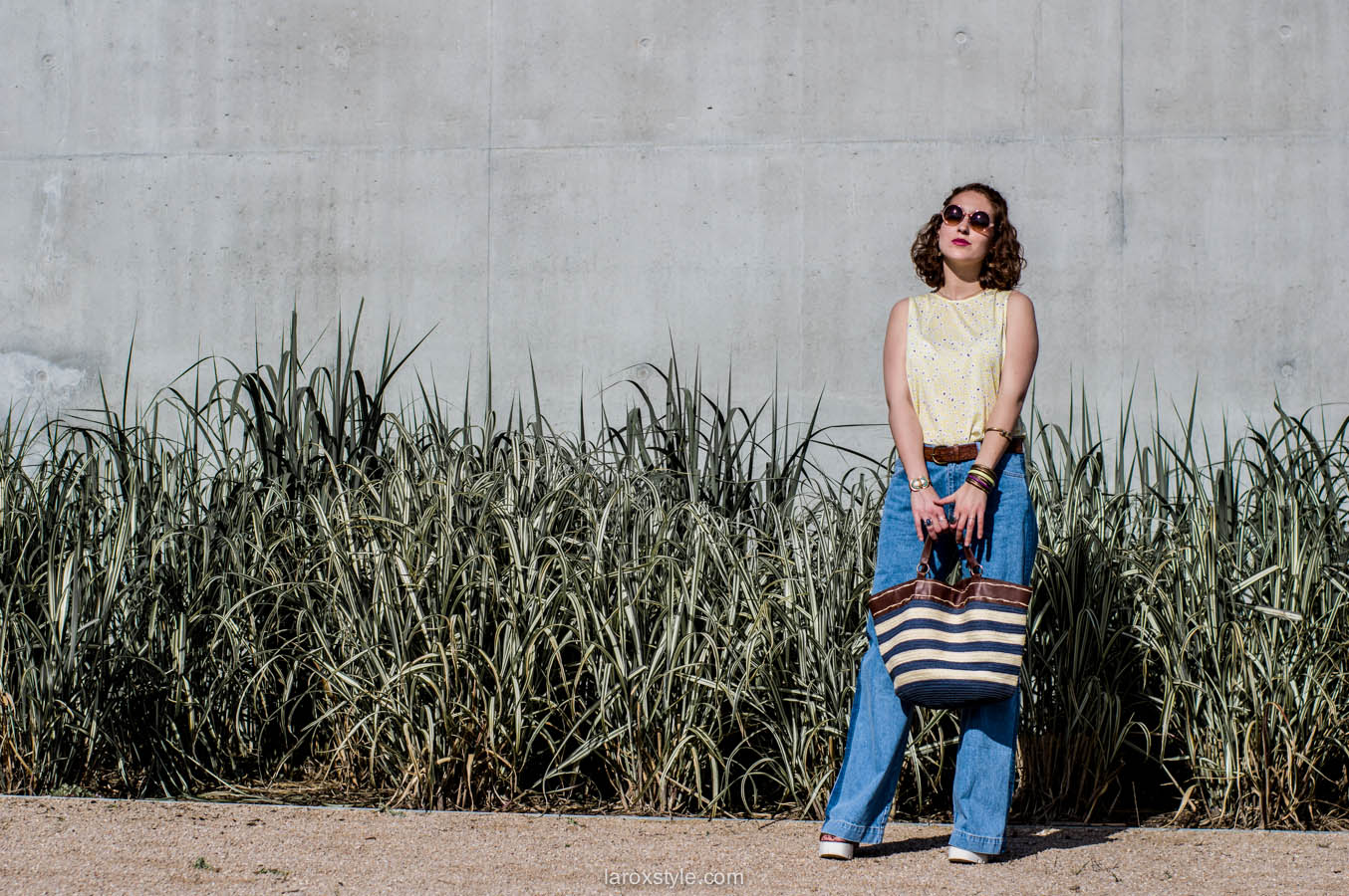 laroxstyle - blog mode lyon - look 70s - pantalon patte d elephant (17 sur 44)