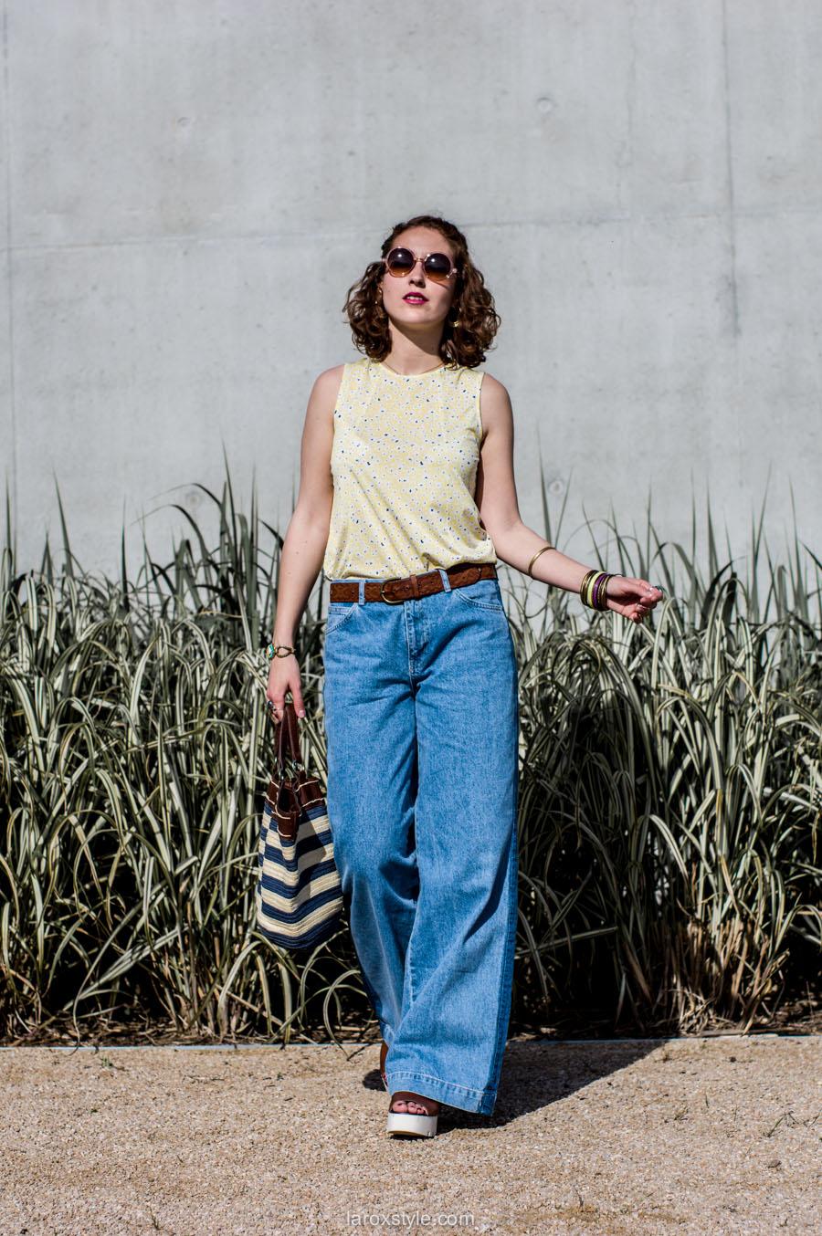laroxstyle - blog mode lyon - look 70s - pantalon patte d elephant (21 sur 44)