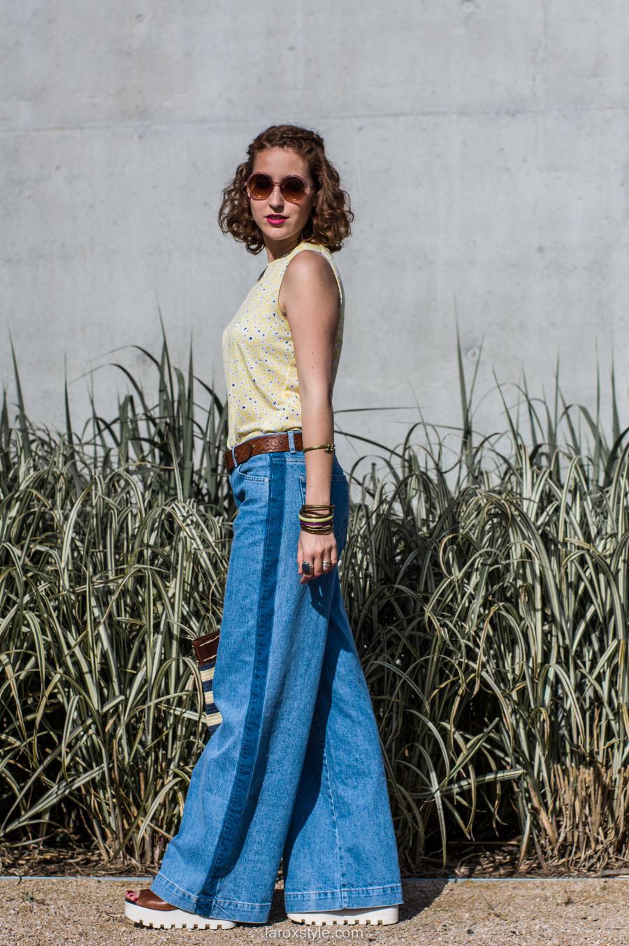 laroxstyle - blog mode lyon - look 70s - pantalon patte d elephant (6 sur 44)