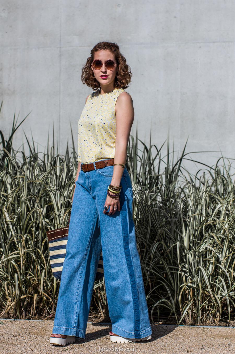 laroxstyle - blog mode lyon - look 70s - pantalon patte d elephant (8 sur 44)