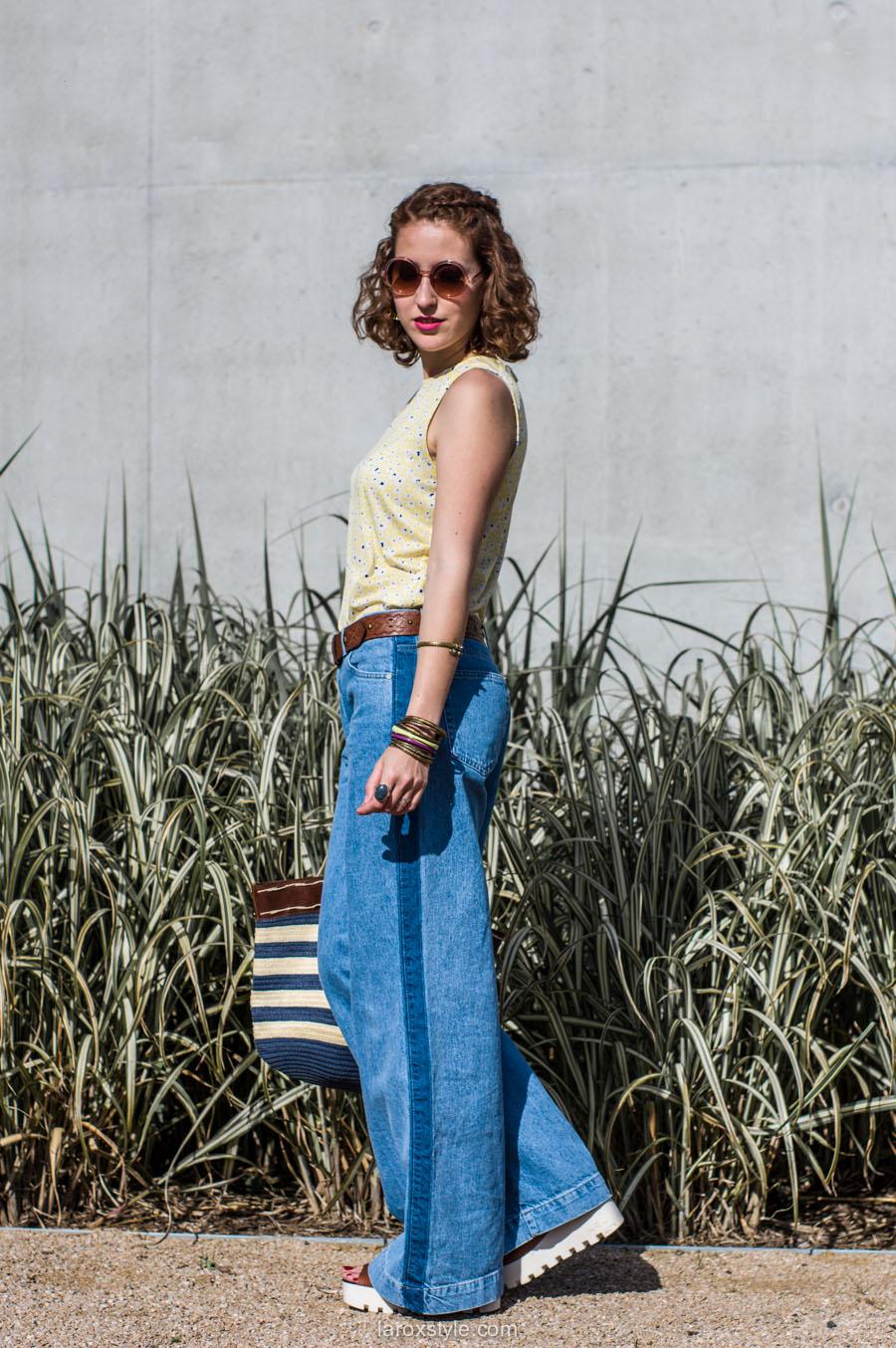 laroxstyle - blog mode lyon - look 70s - pantalon patte d elephant (9 sur 44)