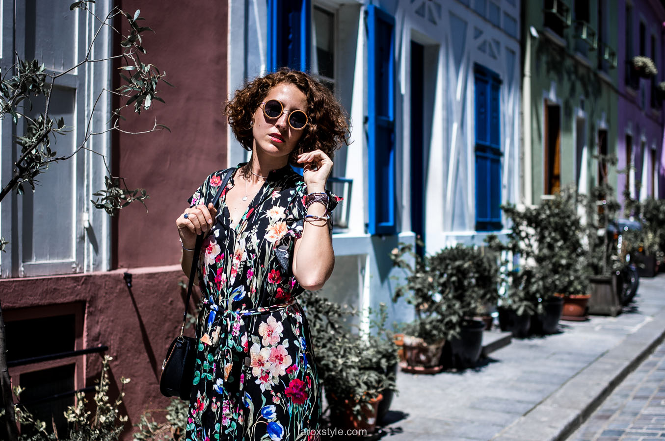 Paris - rue cremieux - fashion blogger - robe long fleurs