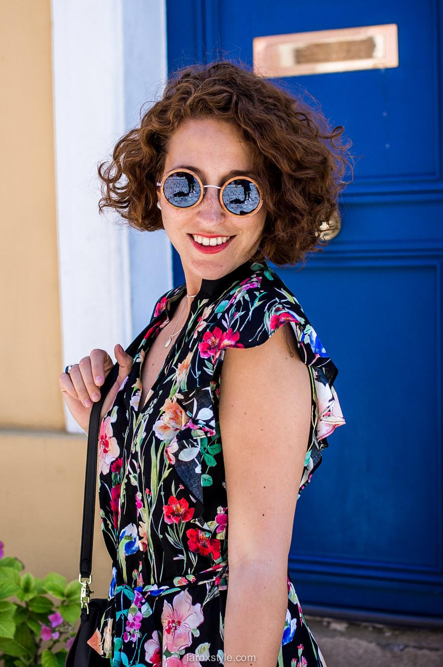 Paris - rue cremieux - look robe longue fleurie - blog mode lyon