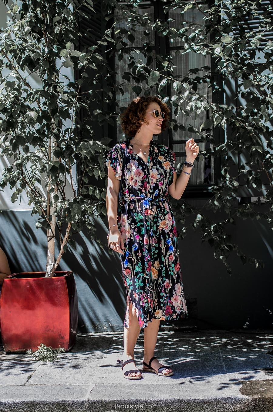 Paris - rue cremieux - robe longue fleurie - boho style