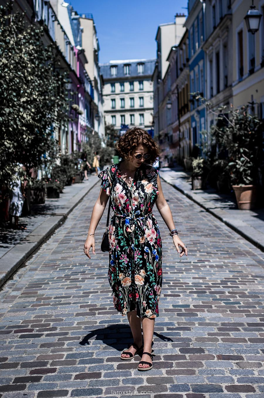 Paris - rue cremieux - robe longue fleurie - laroxstyle - blog mode lyon-15