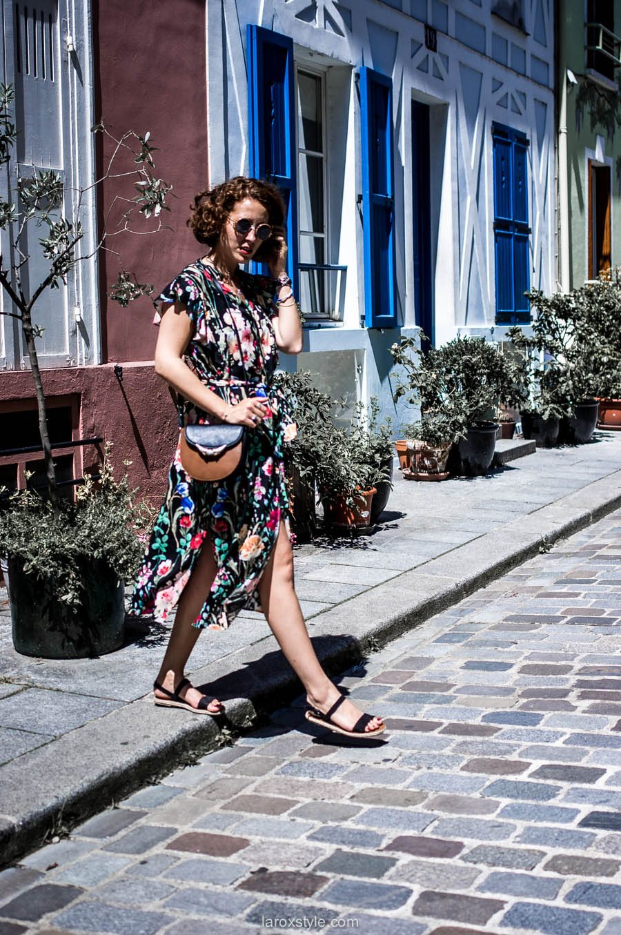 Paris - rue cremieux - robe longue fleurie - laroxstyle - blog mode lyon-21