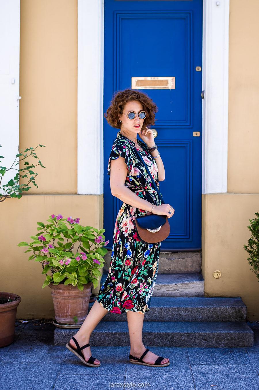Paris - rue cremieux - robe longue fleurie - laroxstyle - blog mode lyon-8