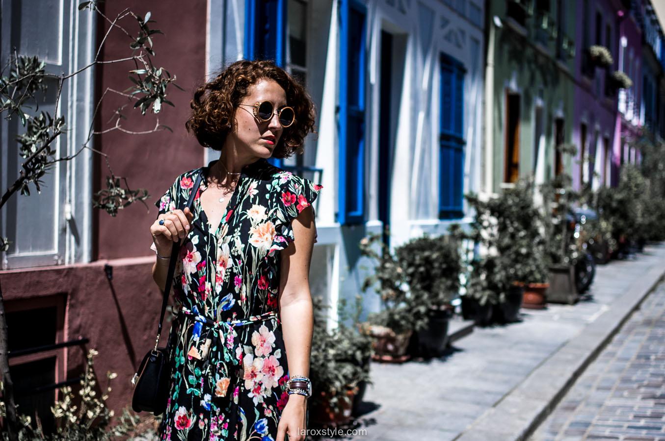 Paris - rue cremieux - robe longue fleurs - fashion boho