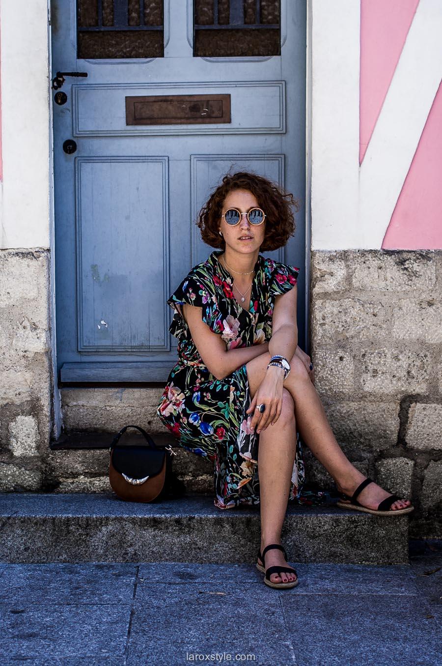Paris - rue cremieux - robe longue zara - robe fleurs