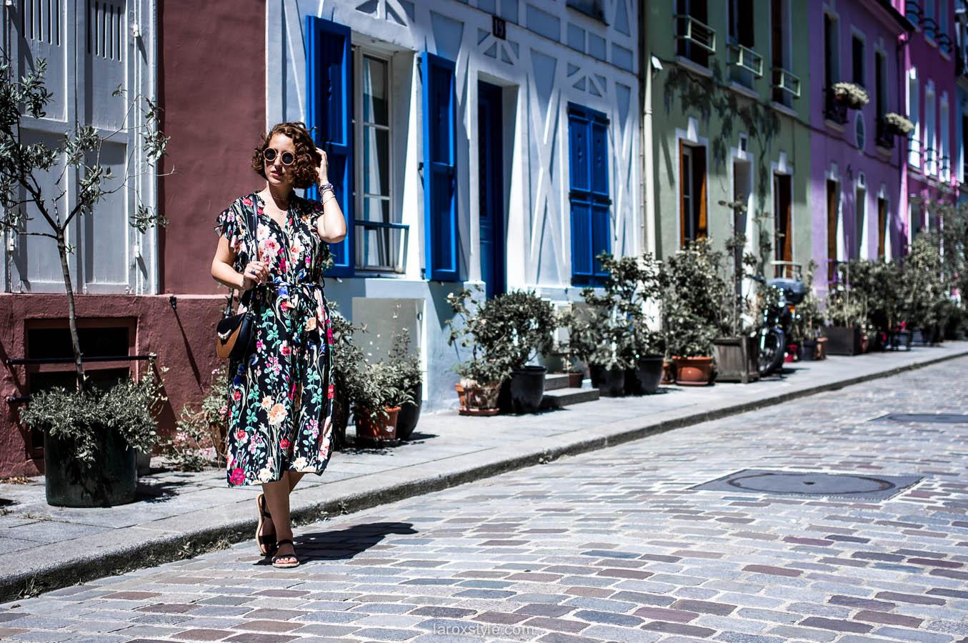 Paris - rue cremieux - street look - look robe longue