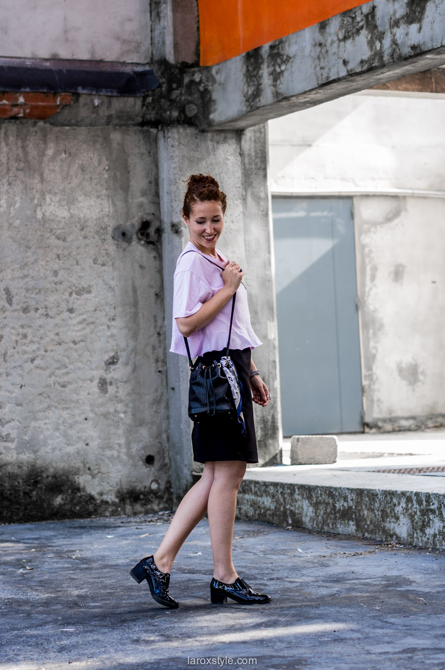 look jupe crayon - look blogueuse