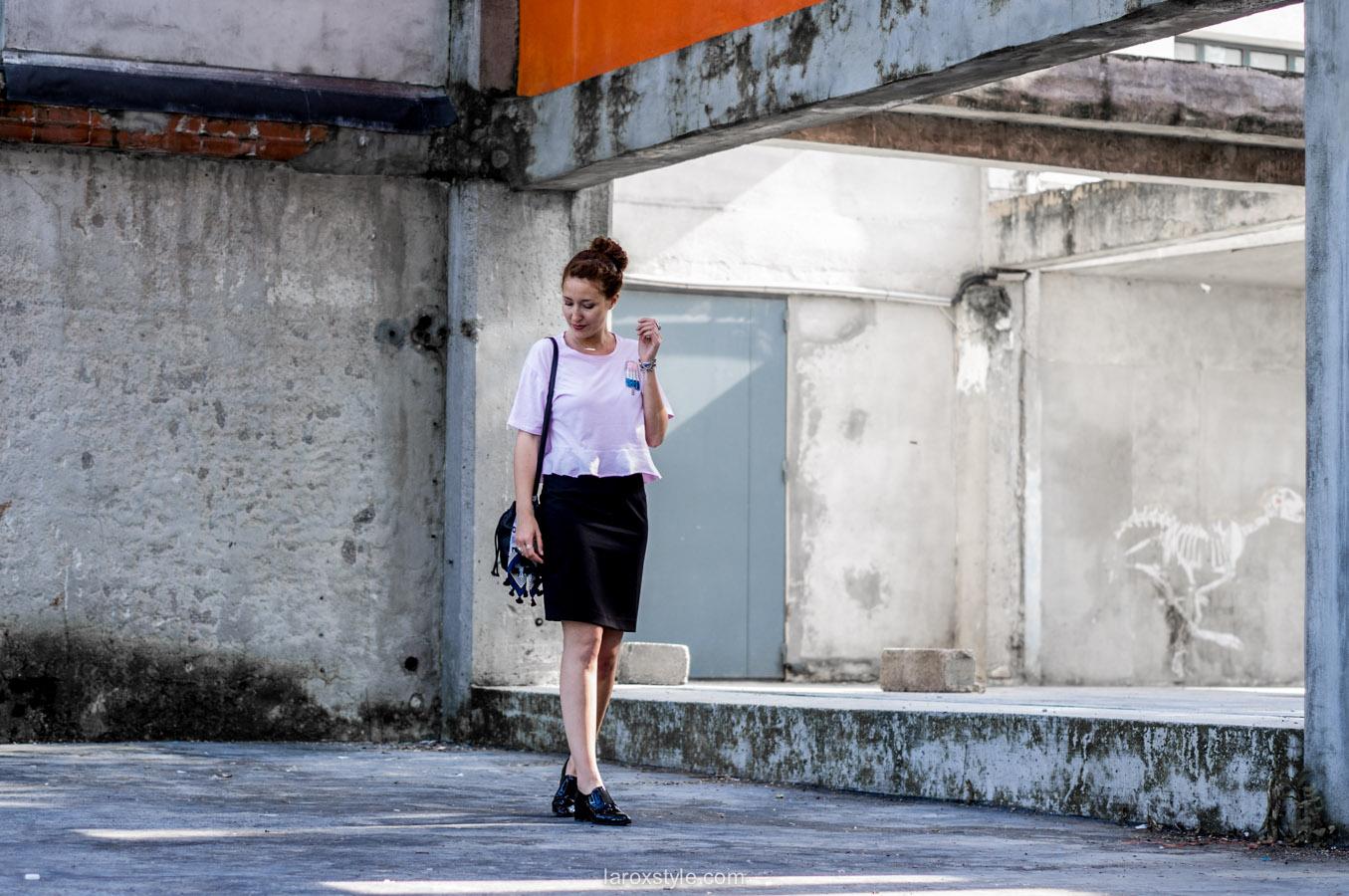 look jupe crayon - top 90s - blog mode lyon