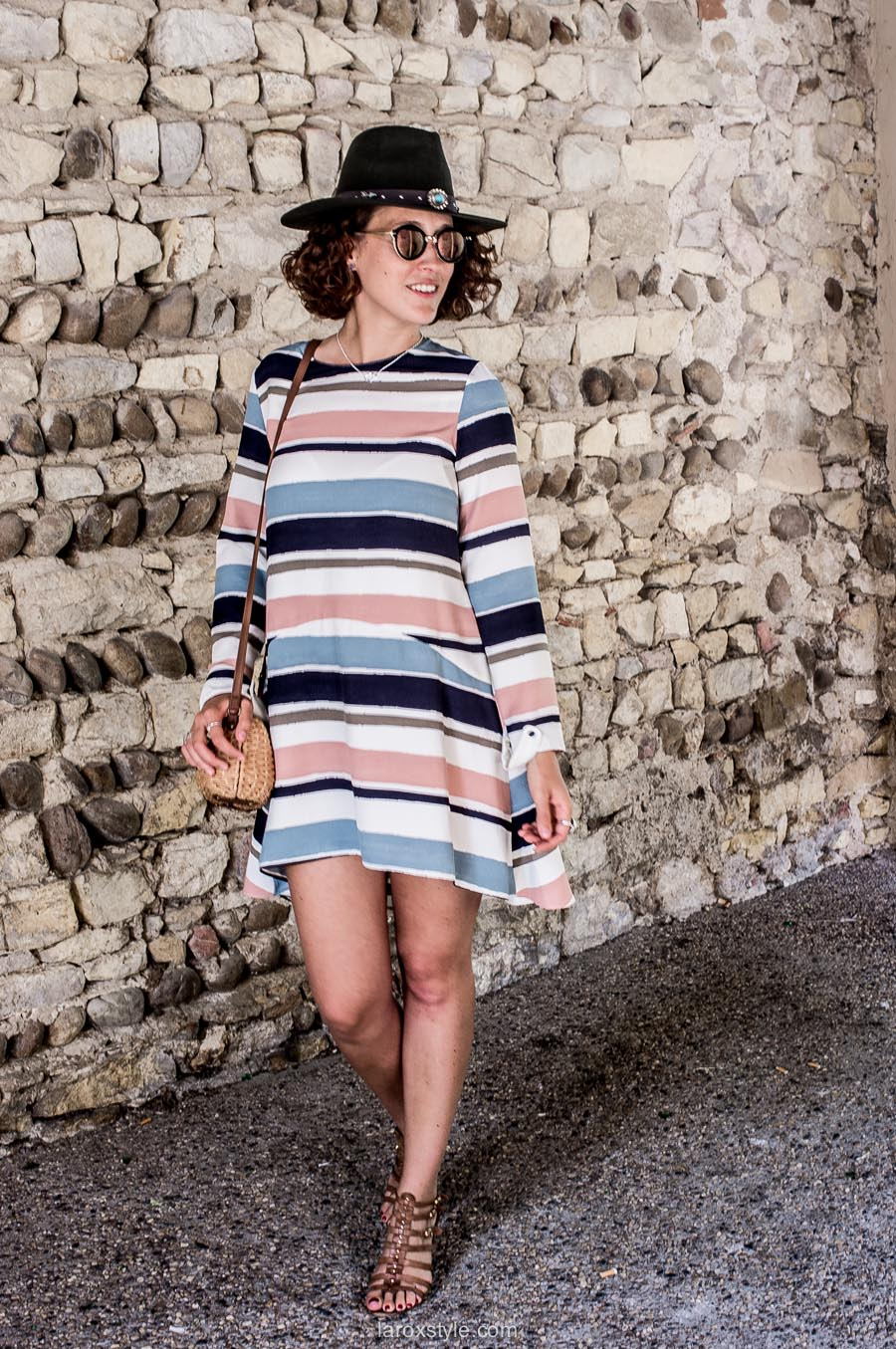 look boheme - robe rayures - blog mode lyon