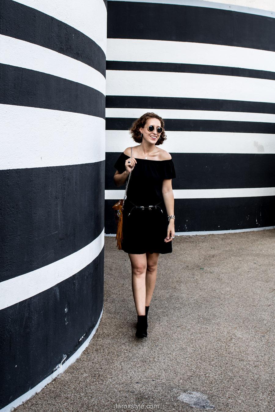 look boho chic - robe épaules dénudés - blogueuse mode lyon