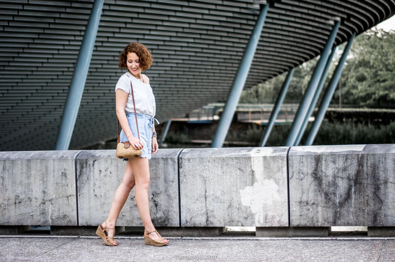 look short dentelle - summer look - blog mode lyon