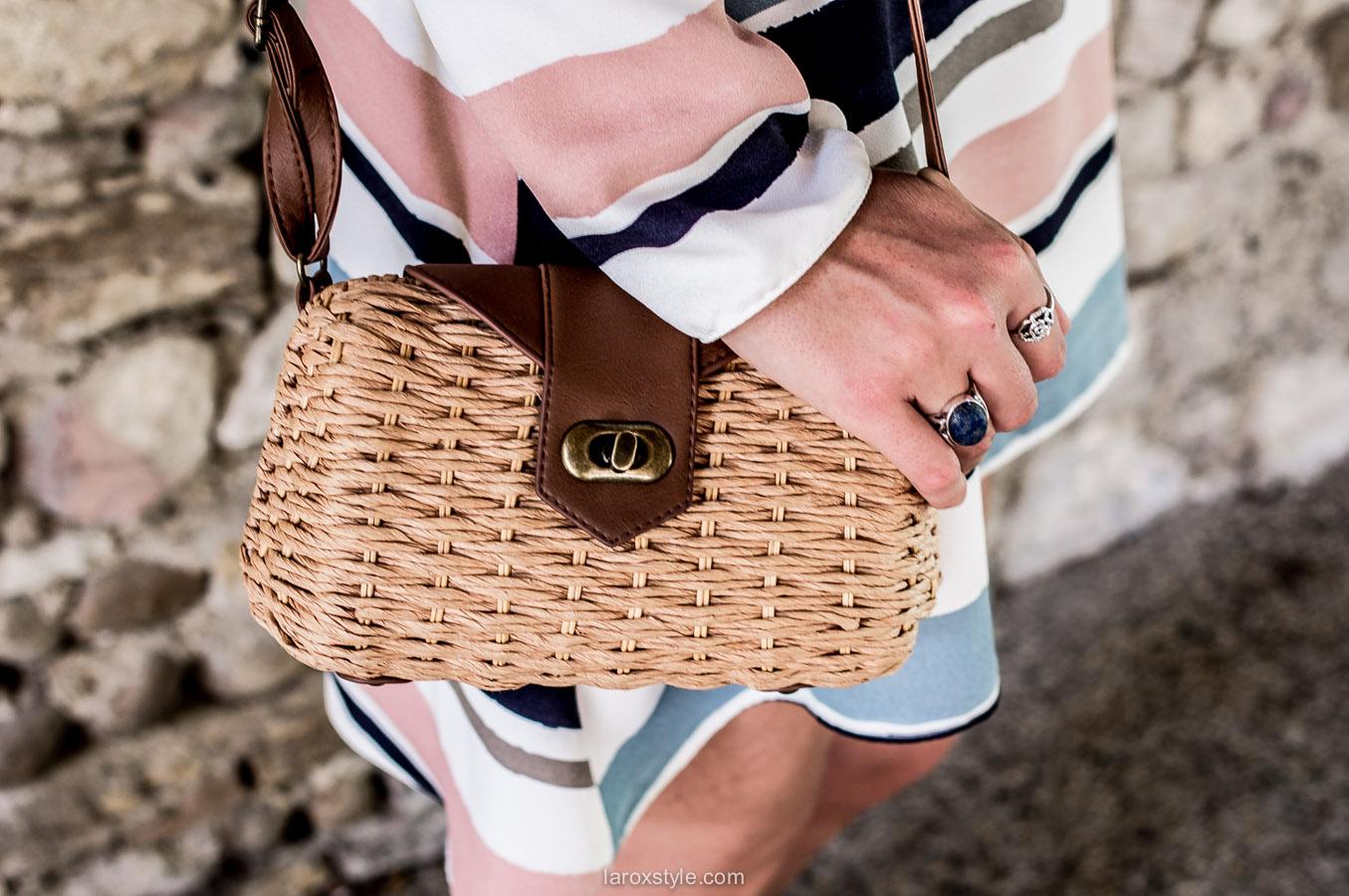 petit sac raphia -blog mode lyon