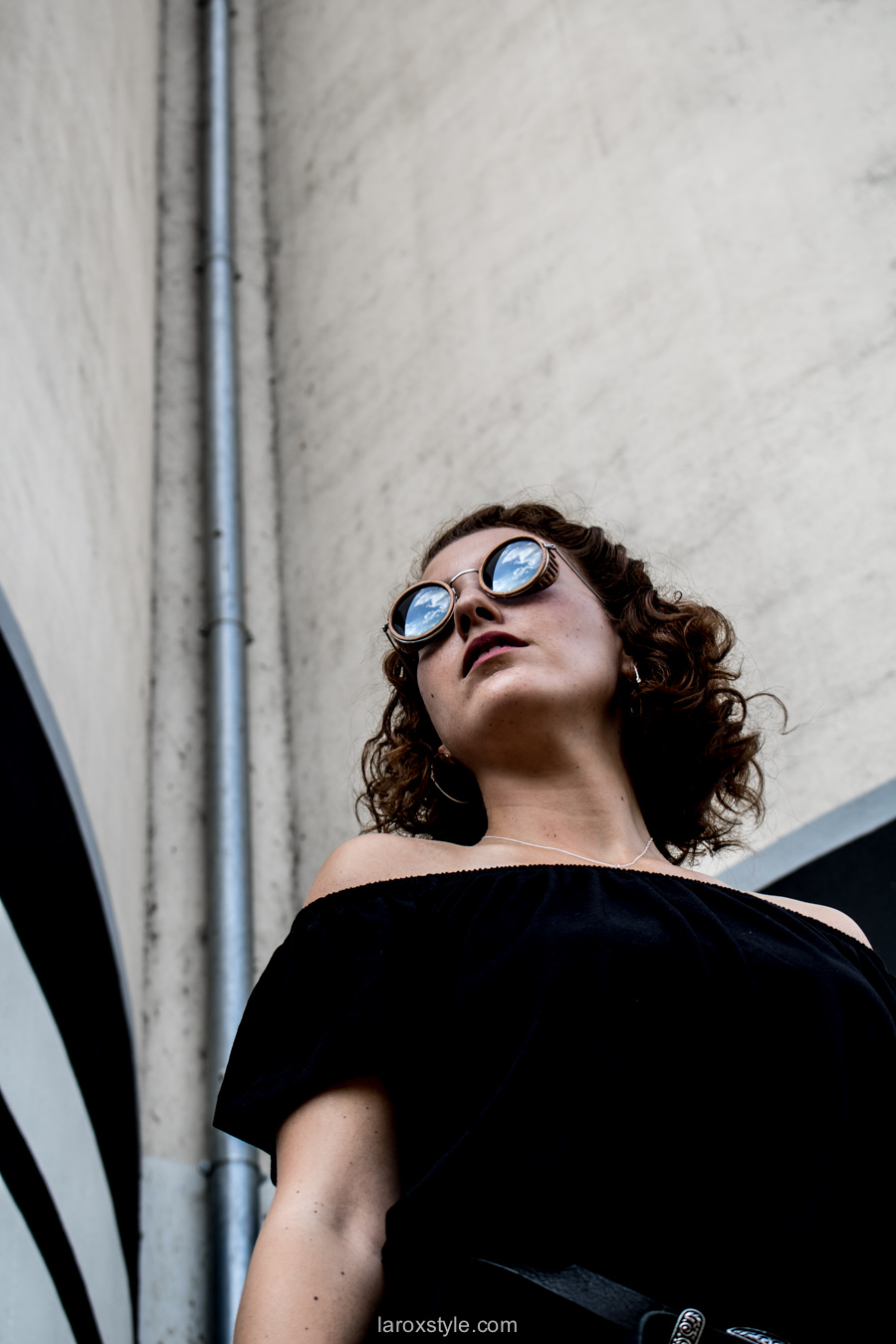 robe noire off shoulders - blog mode lyon