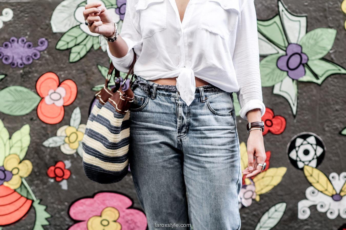 mom jean et chemise blanche - laroxstyle - blog mode lyon