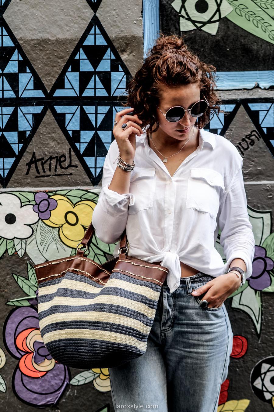 porter la chemise blanche - look mom jean - laroxstyle - blog mode lyon