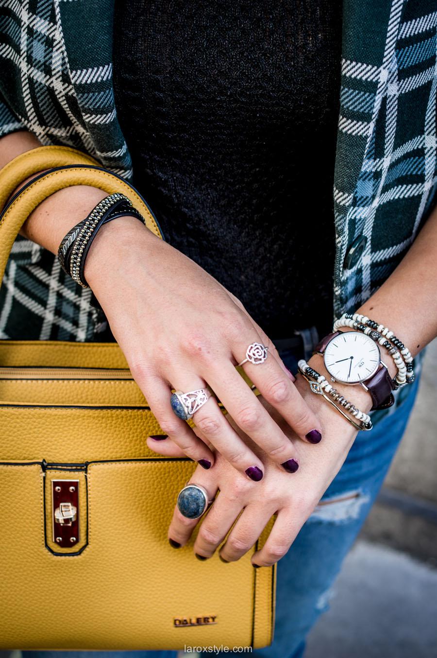arm party - sac dalery jaune - laroxstyle - blog mode