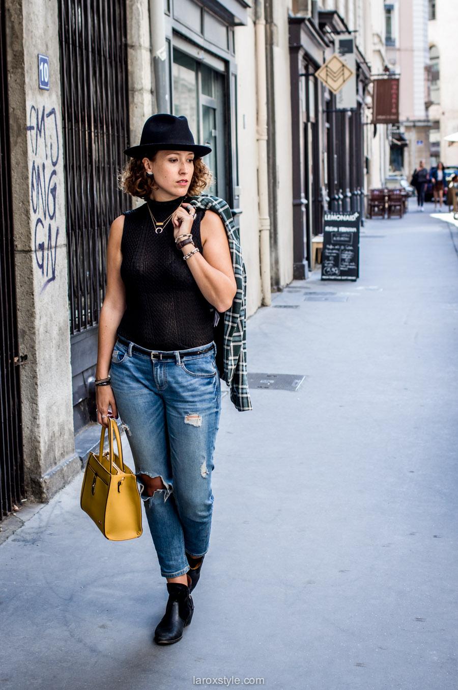 bristish style - veste a carreaux - laroxstyle blog mode lyon