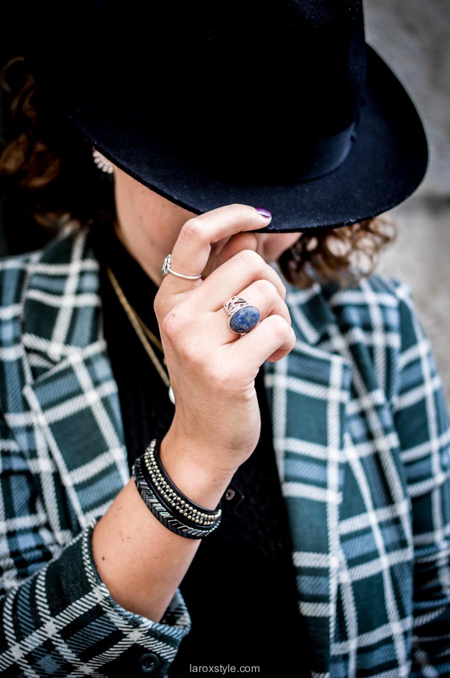bristish style - veste a carreaux - - laroxstyle blog mode lyon