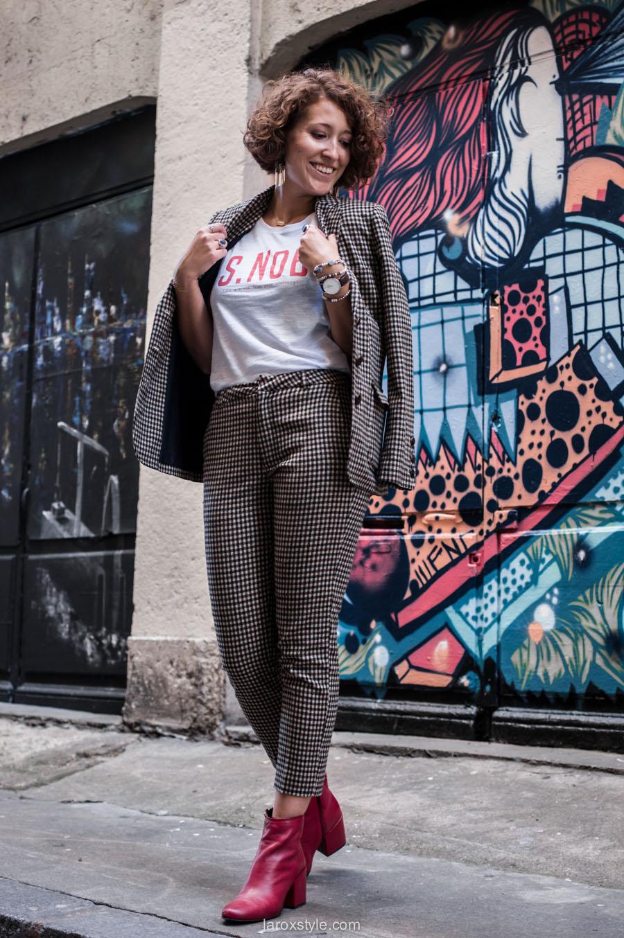 costume femme - tendance costume - t shirt message leonor roversi - SNOB - laroxstyle-18