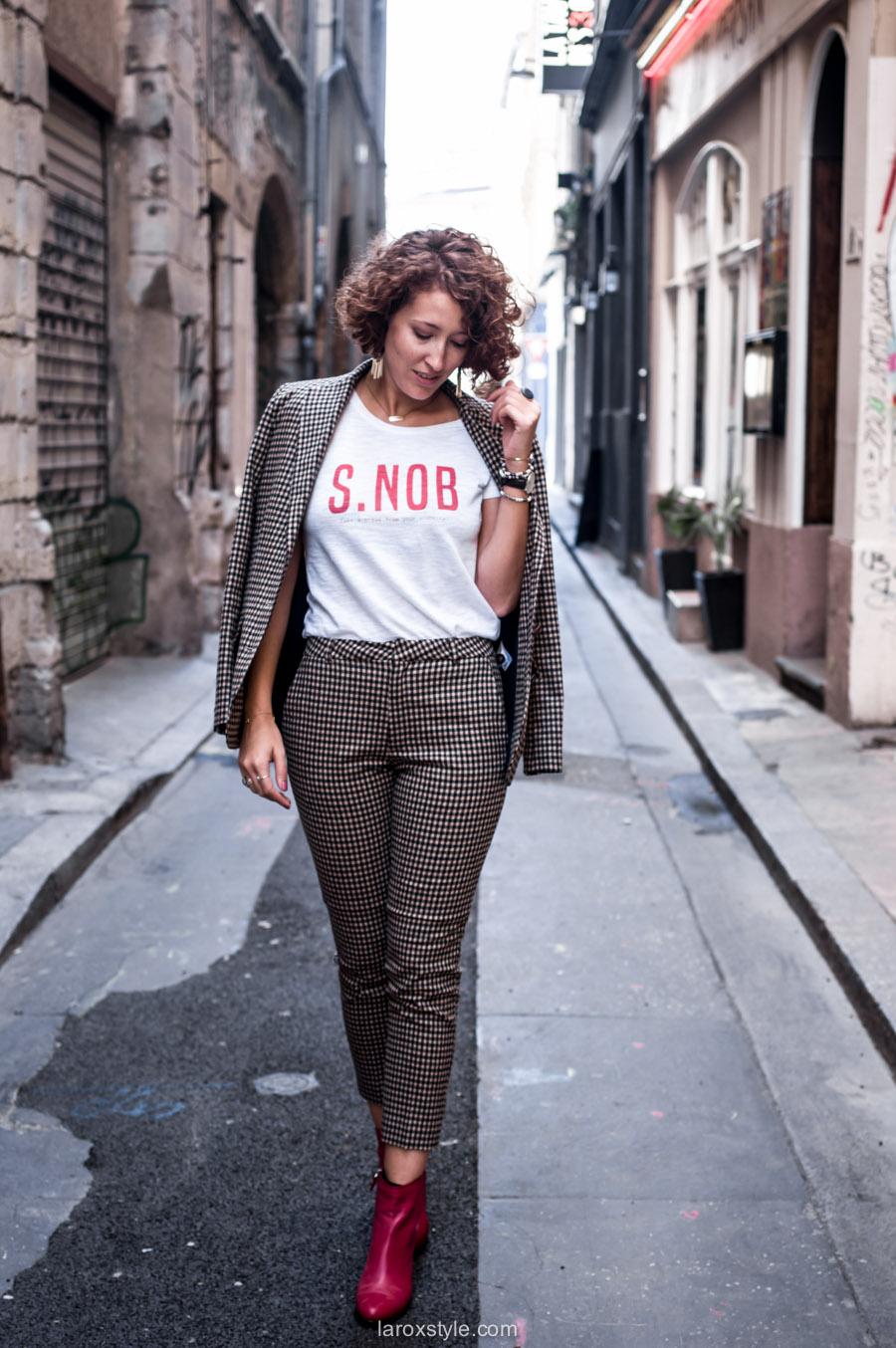 costume femme - tendance costume - t shirt message leonor roversi - SNOB - laroxstyle-3