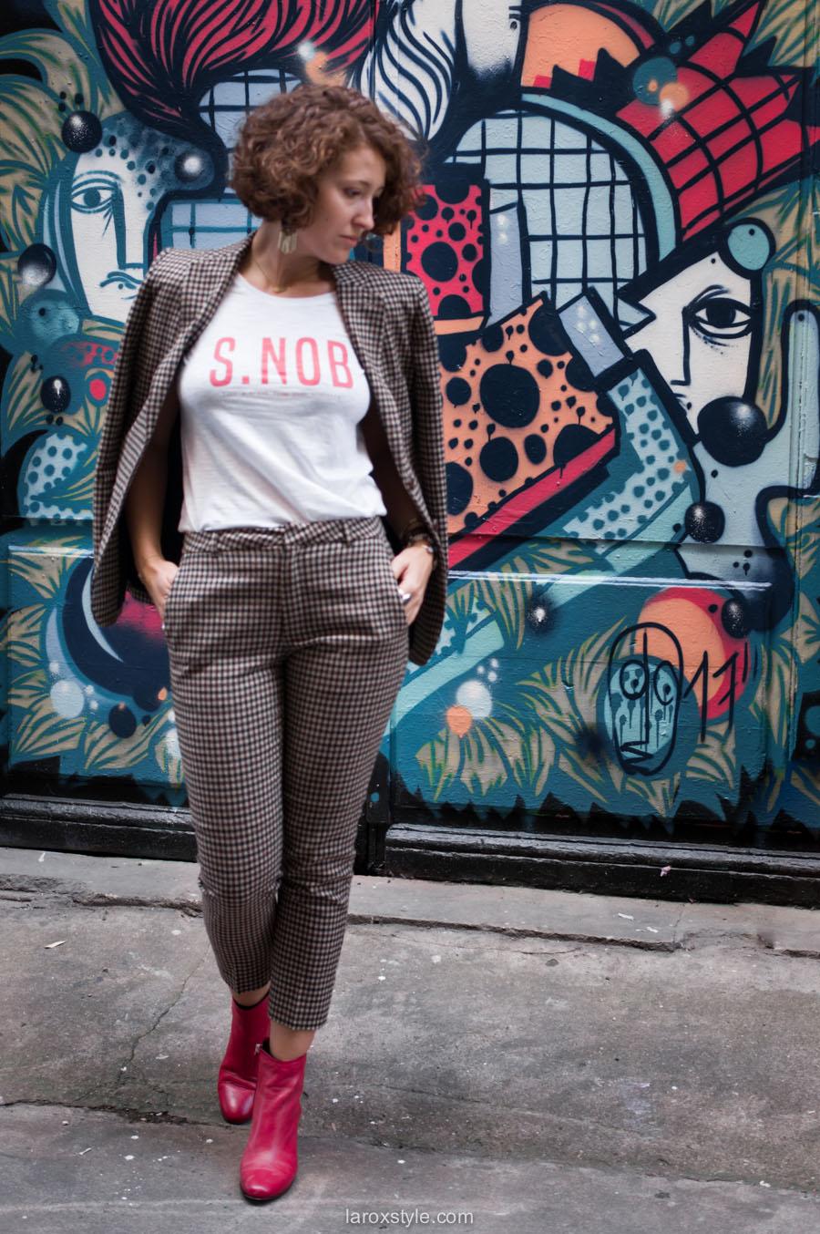 costume femme - tendance costume - t shirt message leonor roversi - SNOB - laroxstyle-5