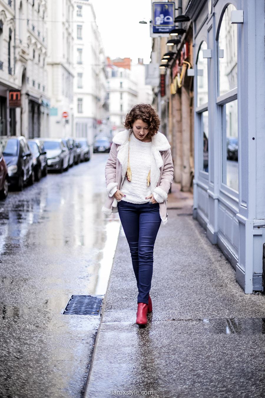 inspiration look - street style inspiration - manteau rose - laroxstyle blog mode lyon-1