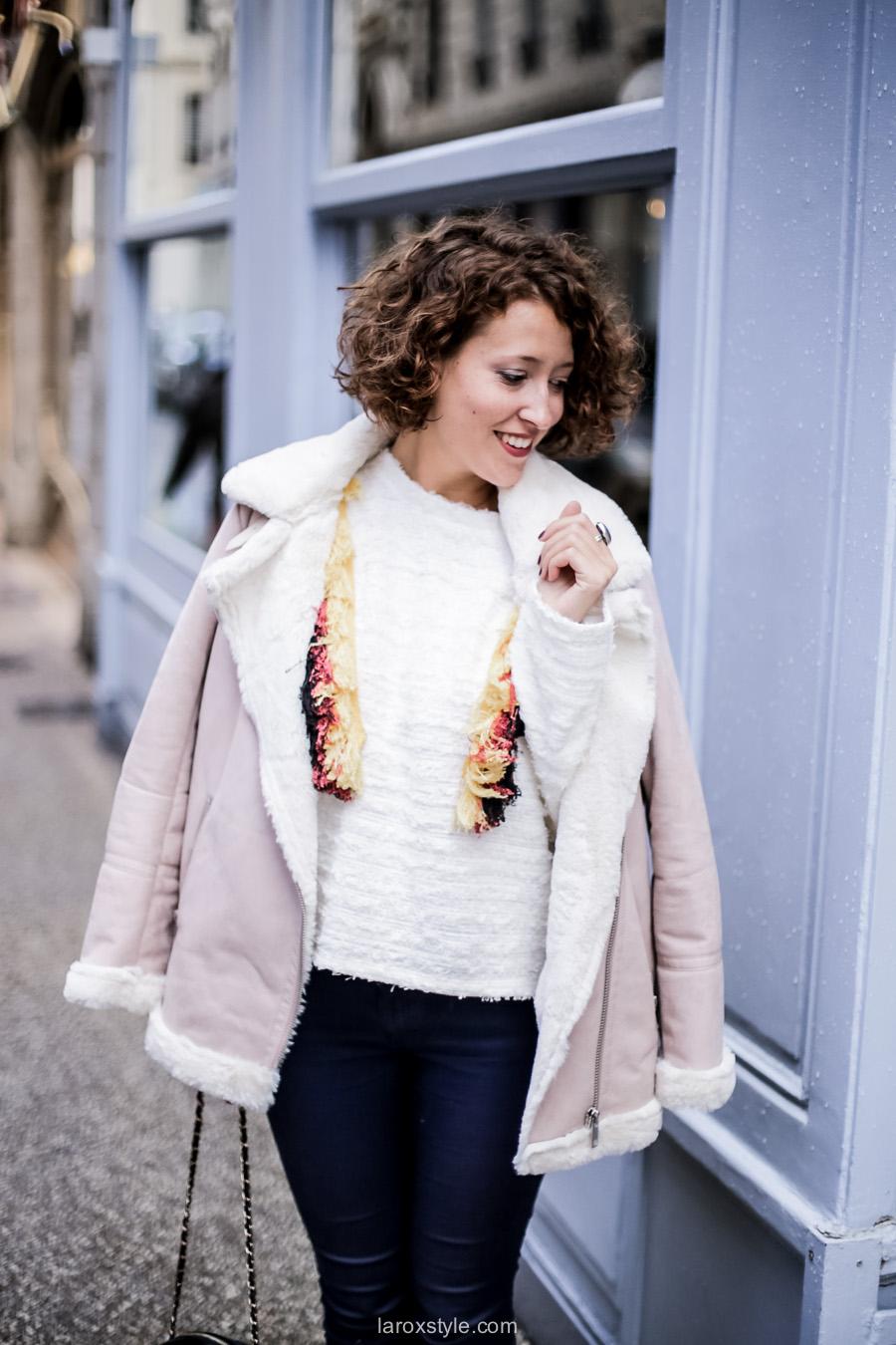inspiration look - street style inspiration - manteau rose - laroxstyle blog mode lyon-12