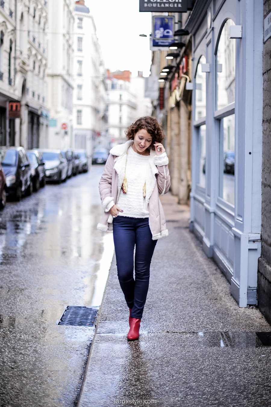 inspiration look - street style inspiration - manteau rose - laroxstyle blog mode lyon-2