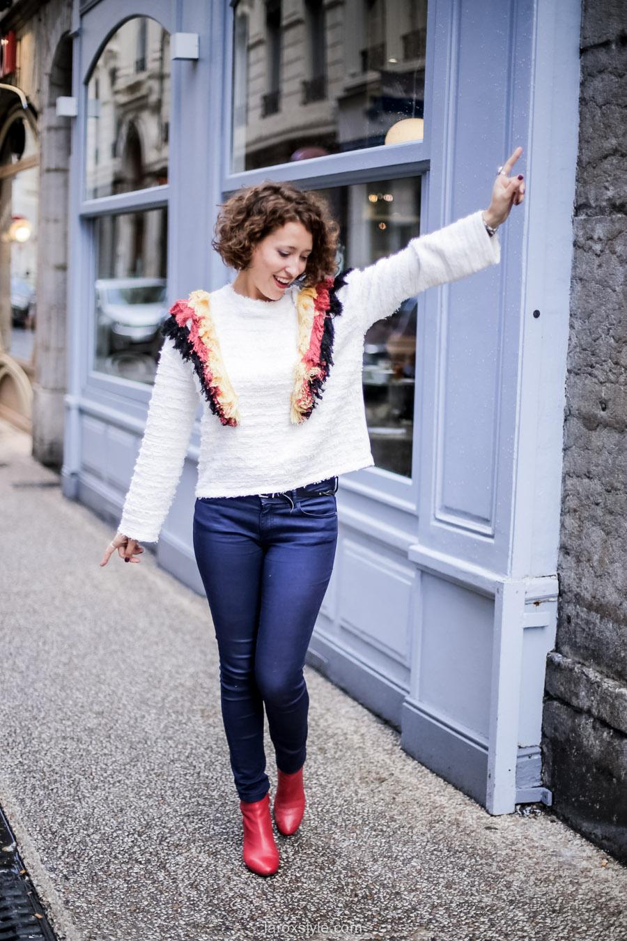 inspiration look - street style inspiration - manteau rose - laroxstyle blog mode lyon-20
