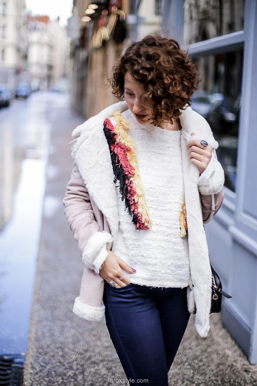 inspiration look - street style inspiration - manteau rose - laroxstyle blog mode lyon-4