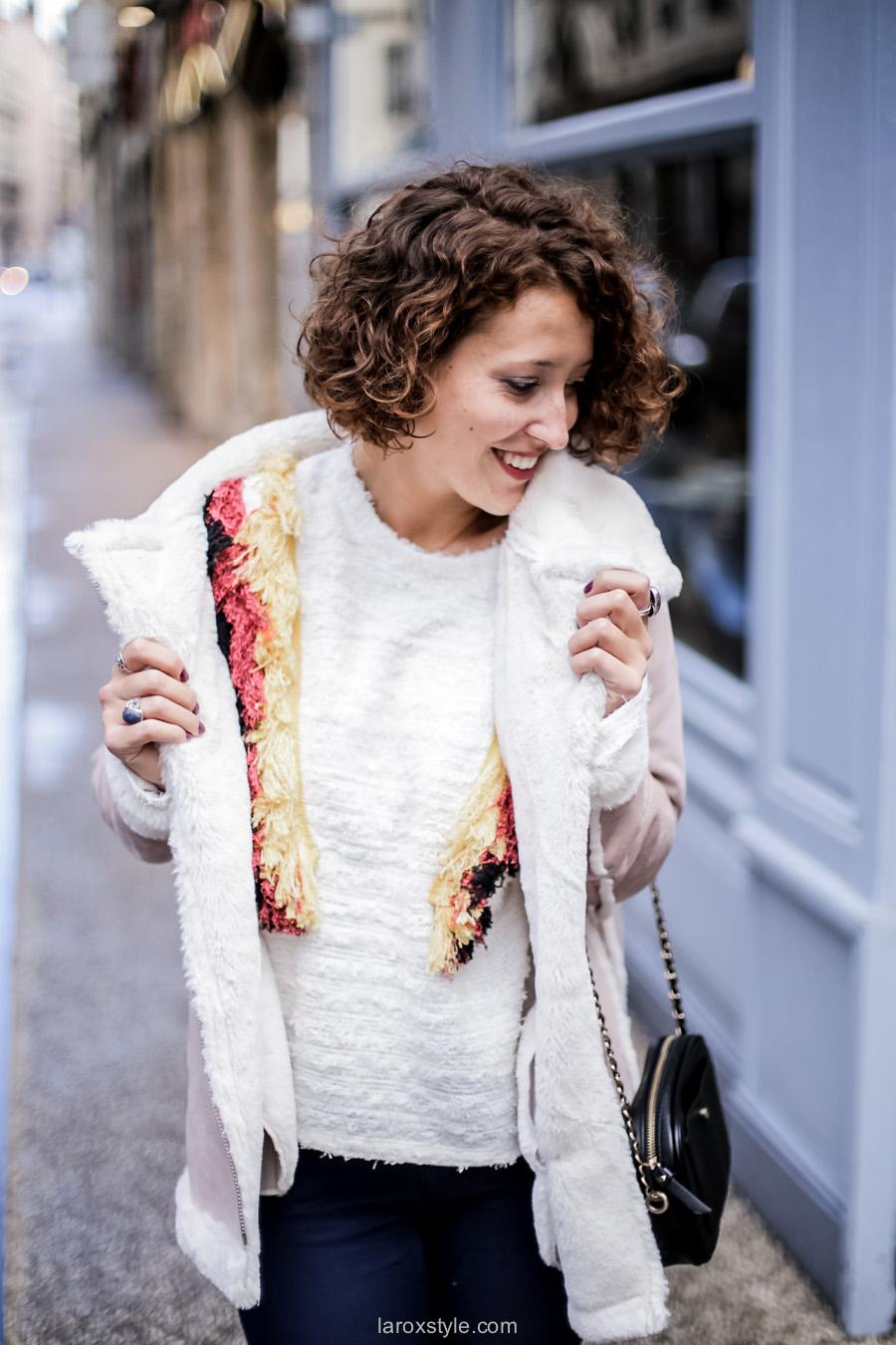 inspiration look - street style inspiration - manteau rose - laroxstyle blog mode lyon-5