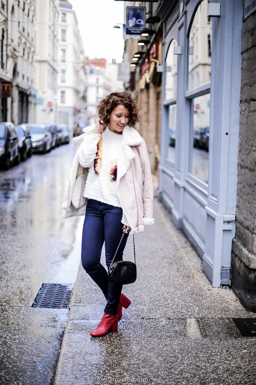 inspiration look - street style inspiration - manteau rose - laroxstyle blog mode lyon-8
