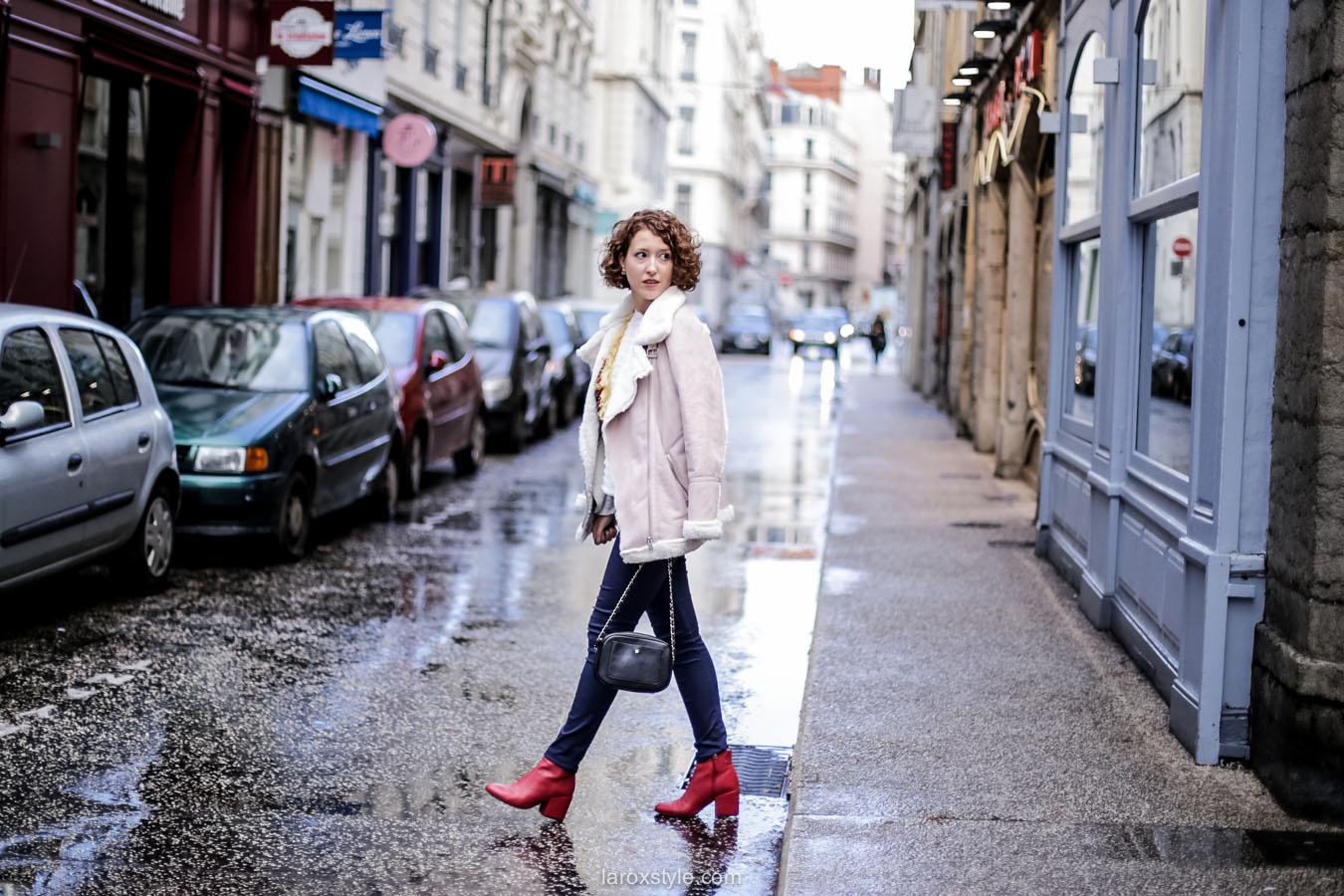 inspiration look - street style inspiration - manteau rose - laroxstyle blog mode lyon-9