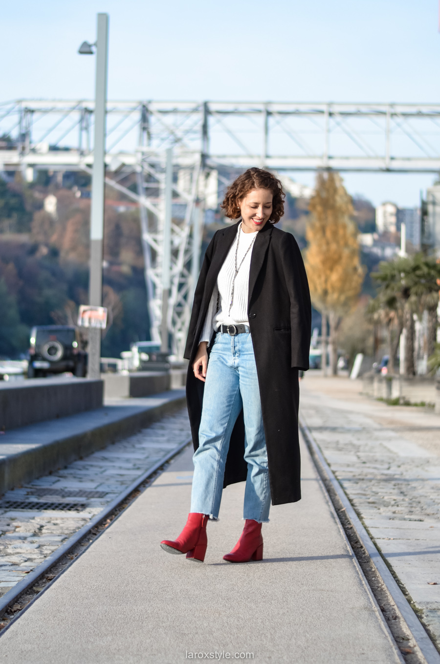 look casual rock - tendance red shoes - mom jean - blog mode lyon-1