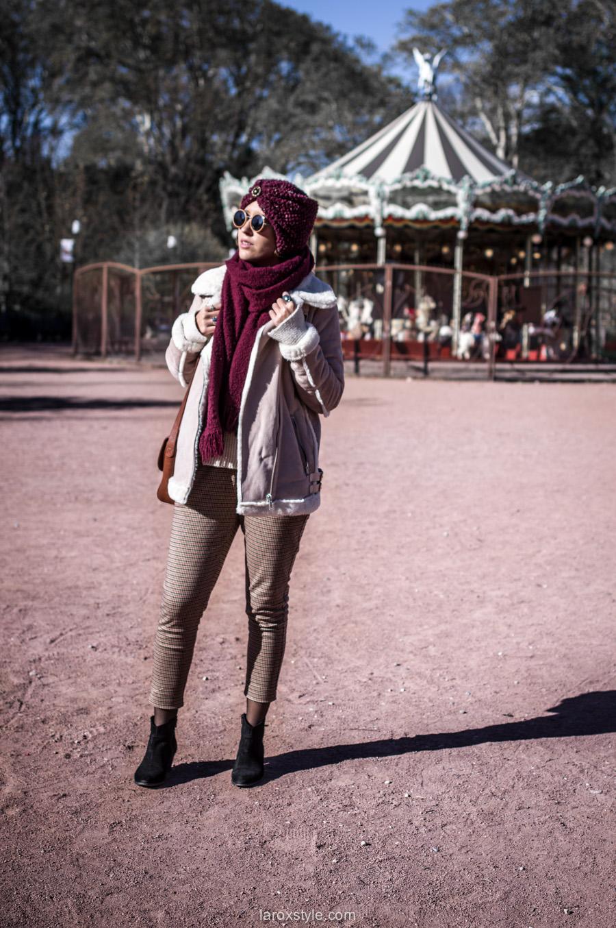 retro look - turban cheveux - pantalon pied de poule - laroxstyle blog mode lyon-1