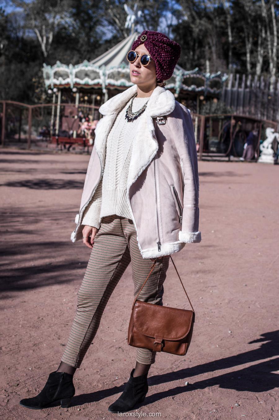 retro look - turban cheveux - pantalon pied de poule - laroxstyle blog mode lyon-11