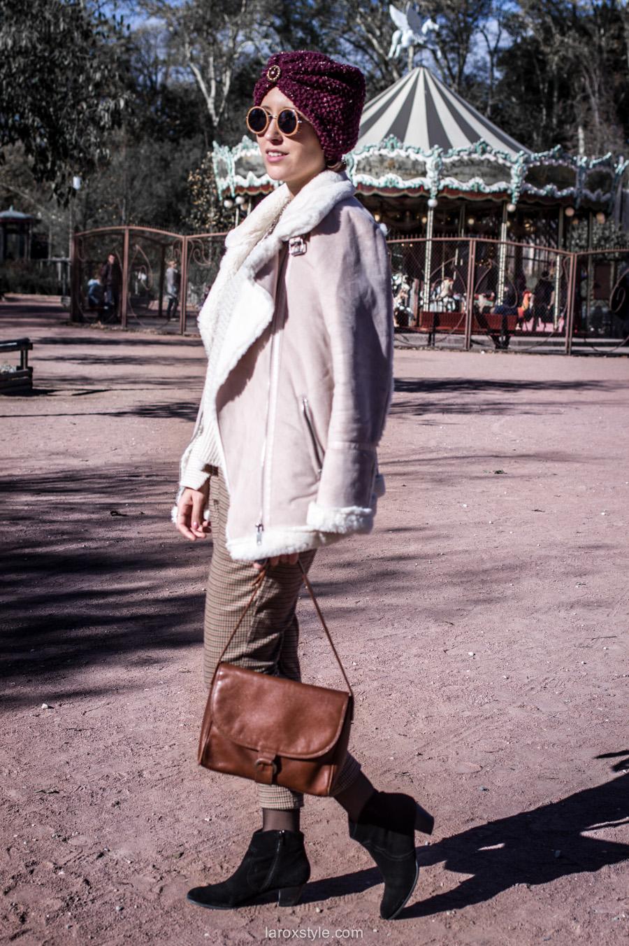 retro look - turban cheveux - pantalon pied de poule - laroxstyle blog mode lyon-13