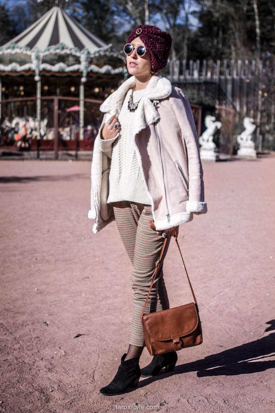 retro look - turban cheveux - pantalon pied de poule - laroxstyle blog mode lyon-4