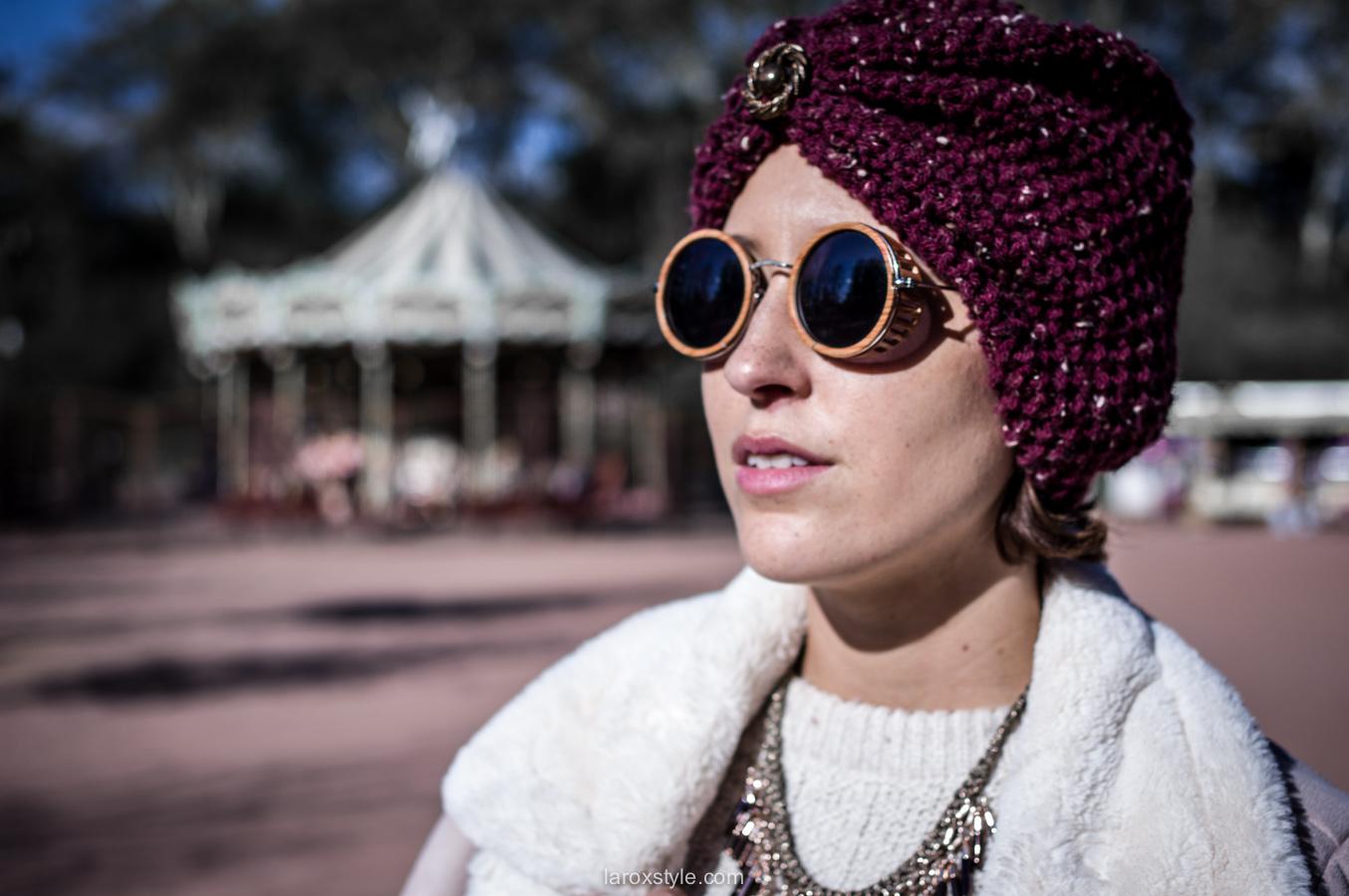 retro look - turban cheveux - pantalon pied de poule - laroxstyle blog mode lyon-8