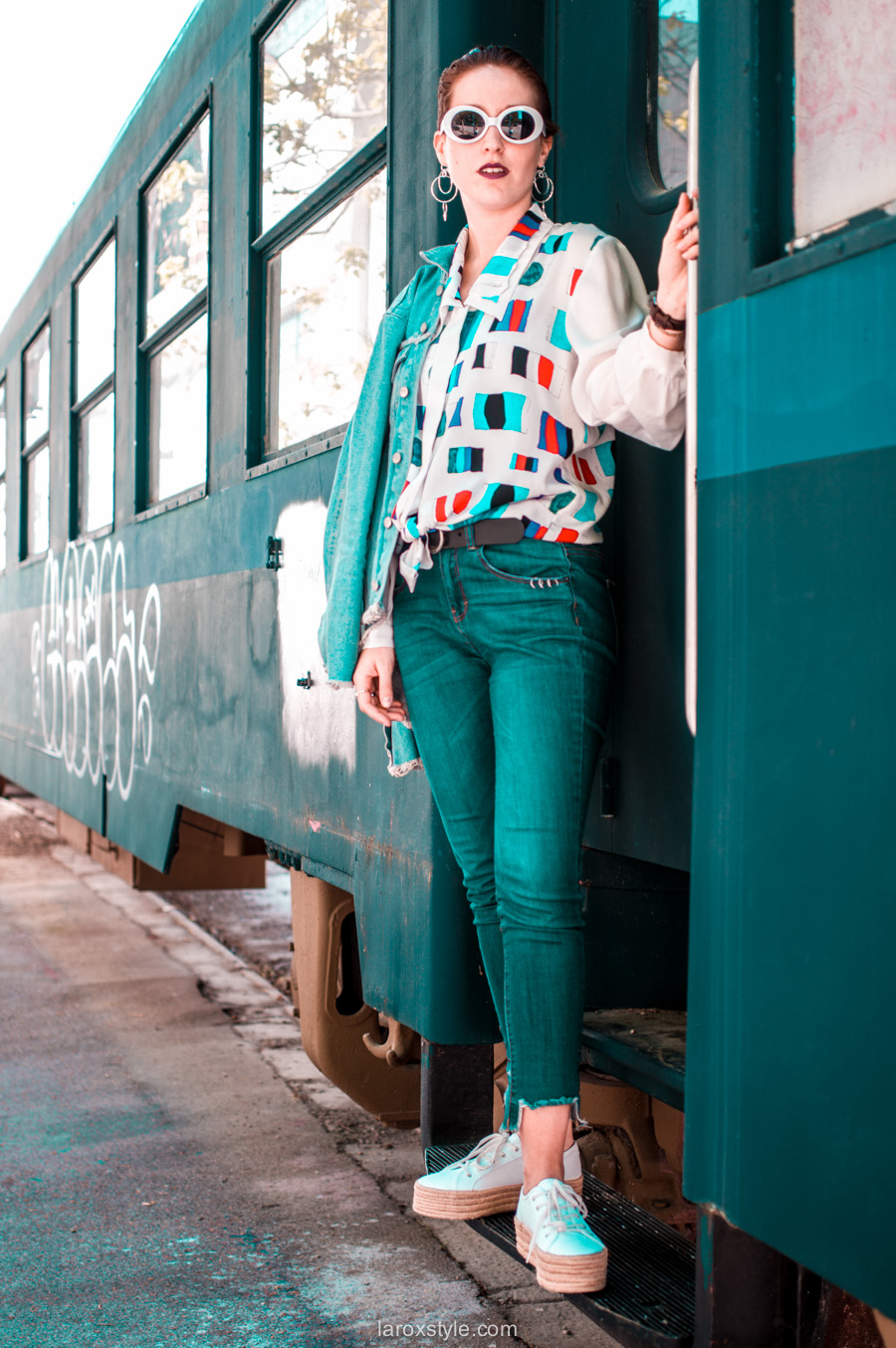 chemise oversize et jean slim - shooting mode wagon