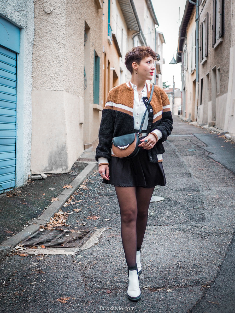 blog mode look veste teddy moumoute
