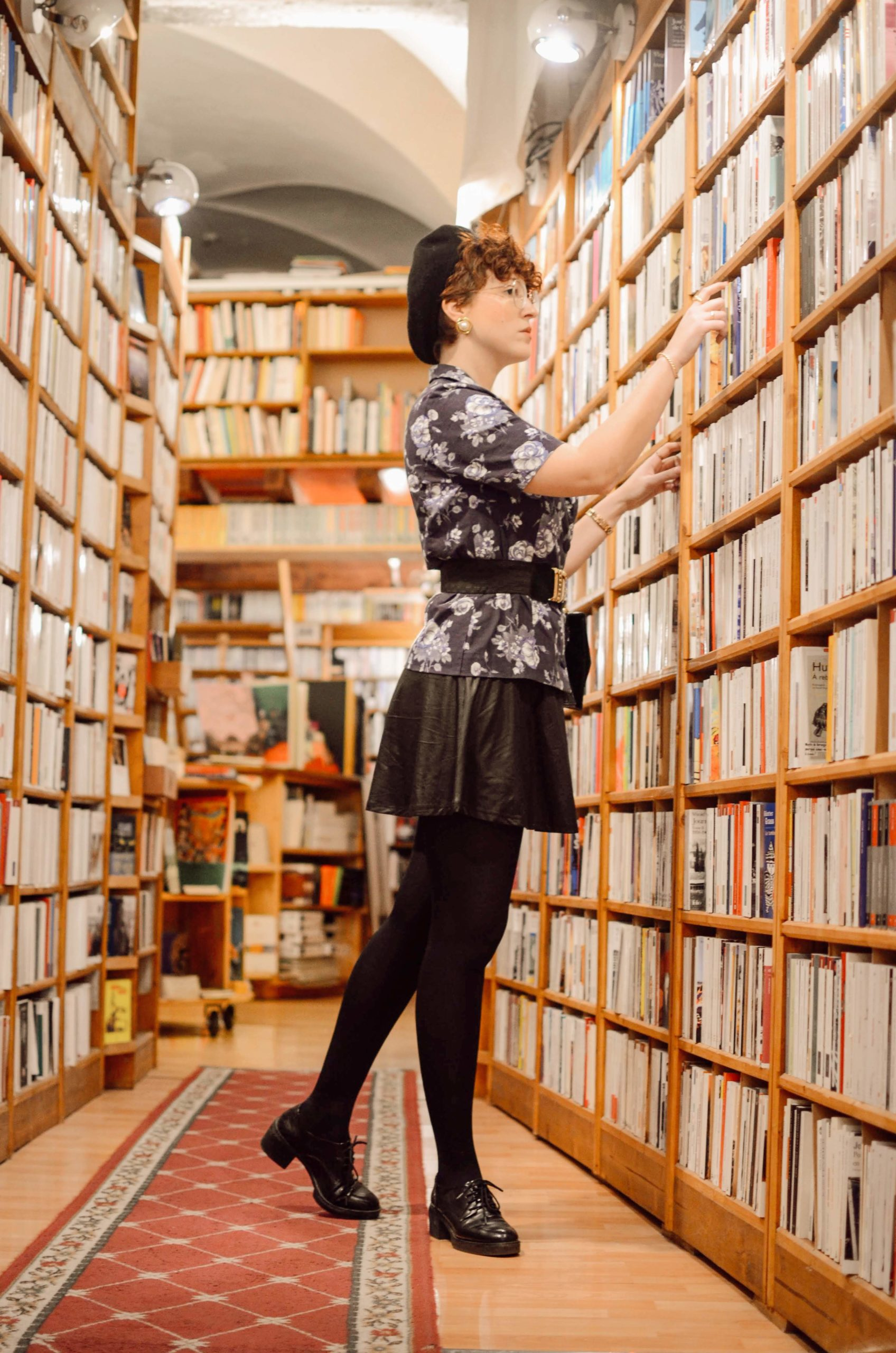 shooting à la librairie - library photoshoot